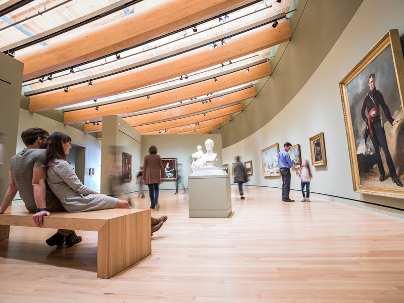 Inside the a gallery installation at the Crystal Bridges Museum of American Art