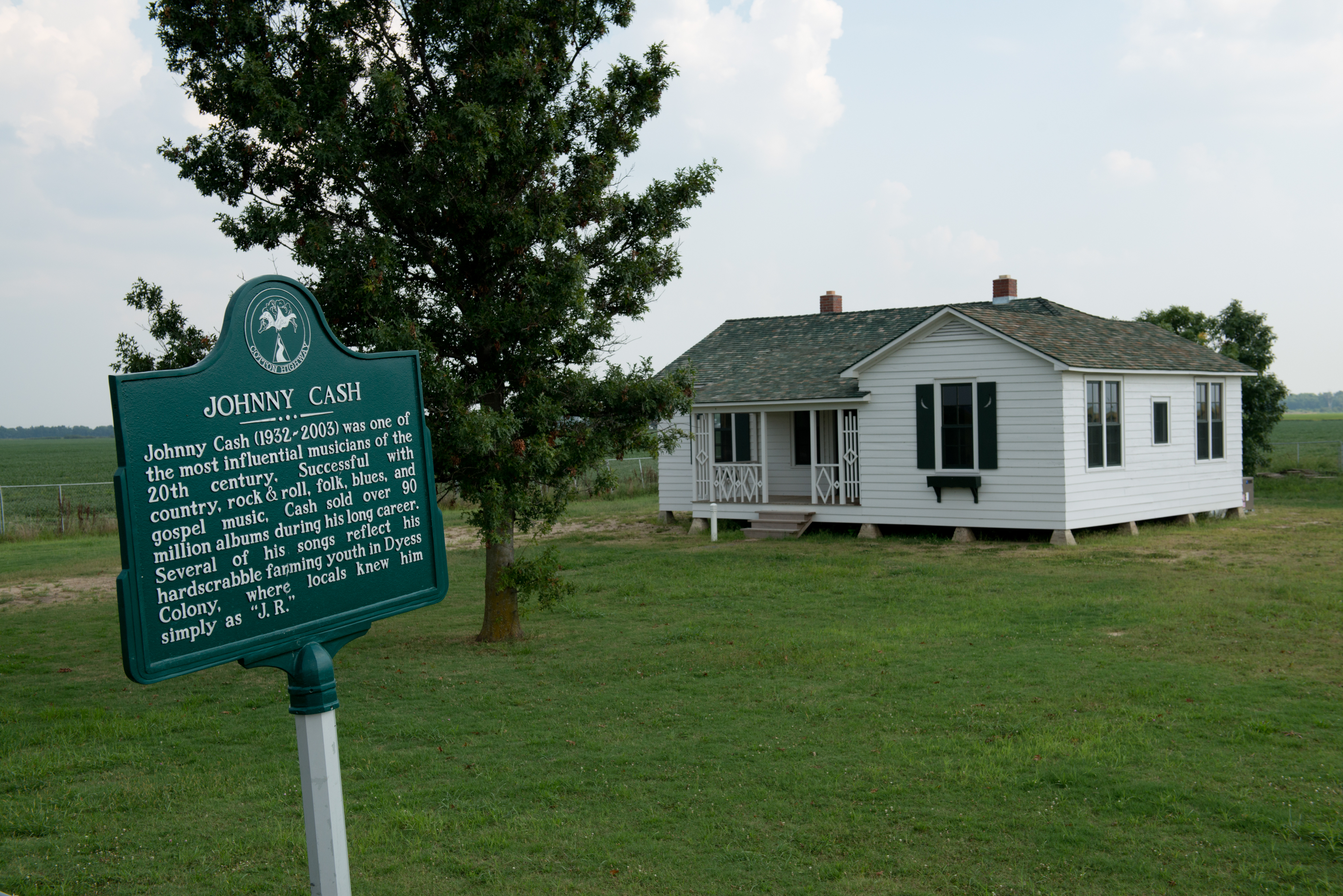 Boyhood home of Johnny Cash in Dyess