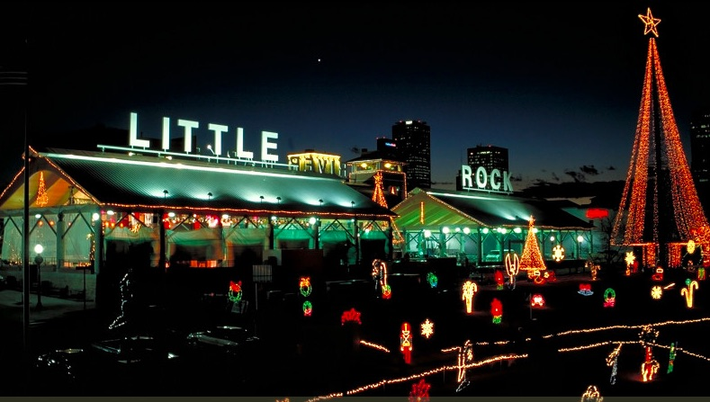 Holiday lights in Little Rock