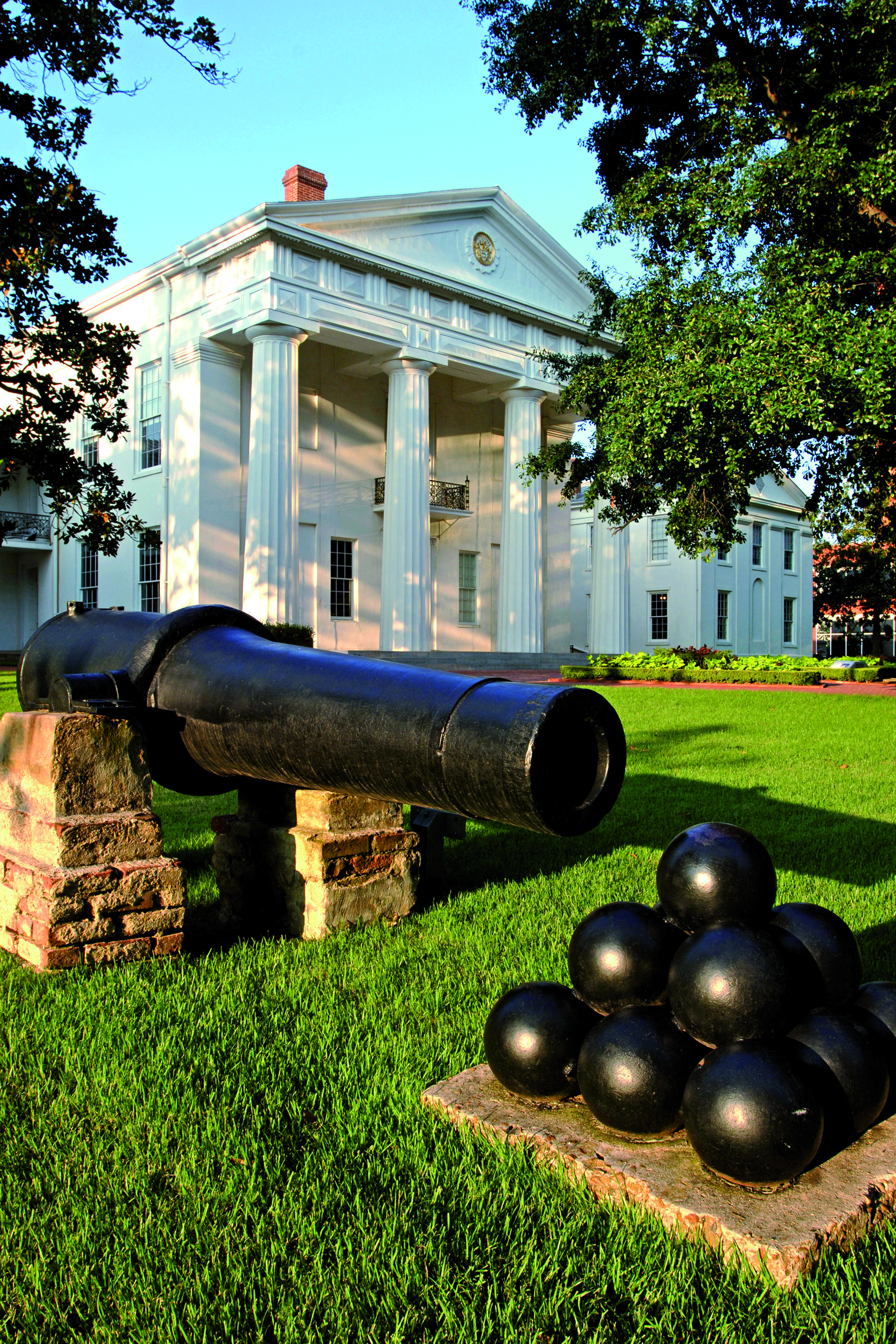 A cannon outside The Old State House