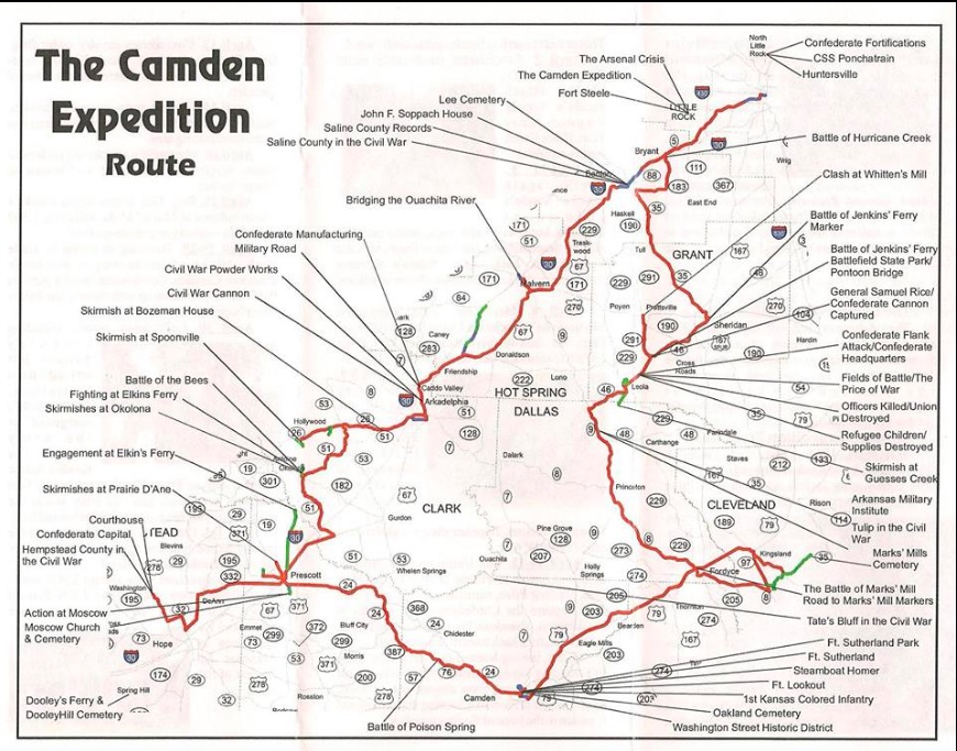 Camden Expedition map