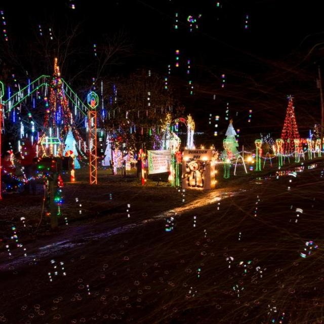 Holiday Light display in Crossett, Arkansas
