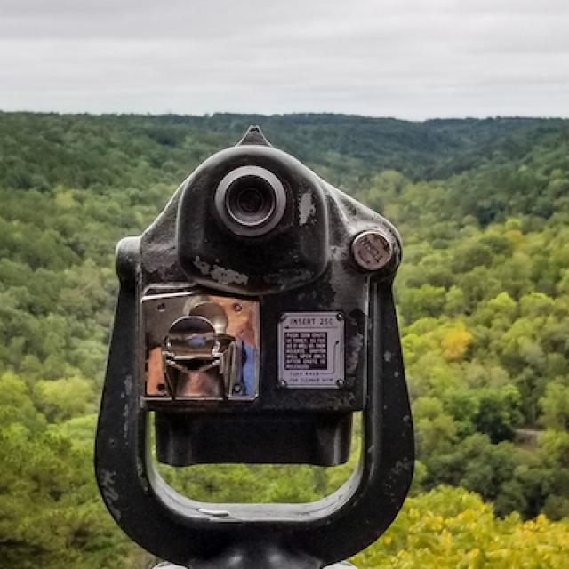 Sight finder at the Crescent Hotel in Eureka Springs