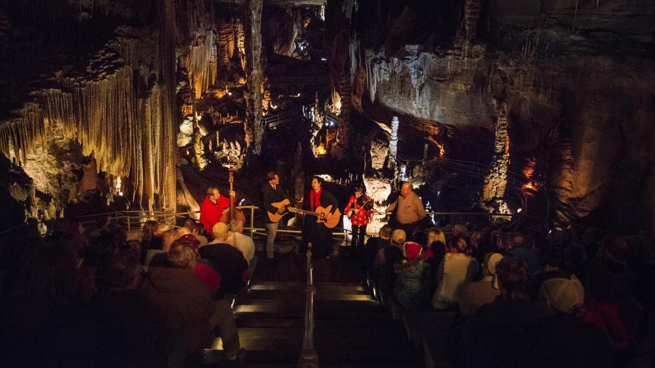 Caroling in the Caverns at Blanchard Springs Caverns in Mountain View