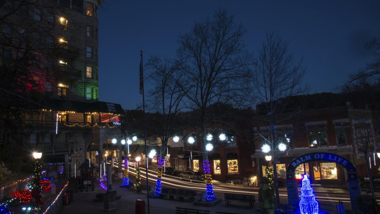 Downtown Eureka Springs during the Holidays