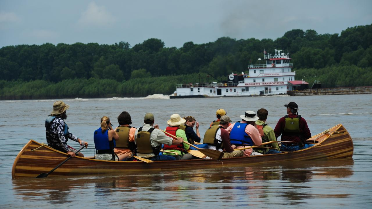 Plan a canoe trip down the Mighty Mississippi with Quapaw Canoe Company in historic Helena