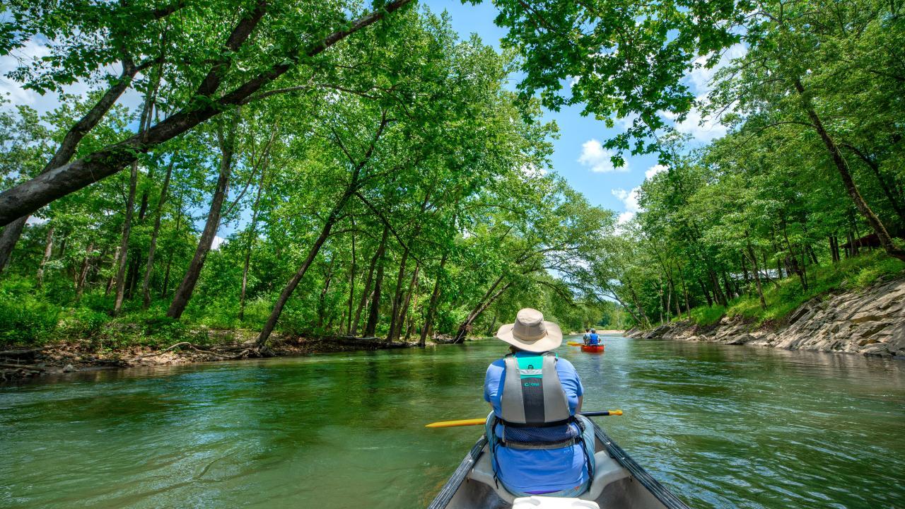 Paddling the Caddo River   Arkansas com