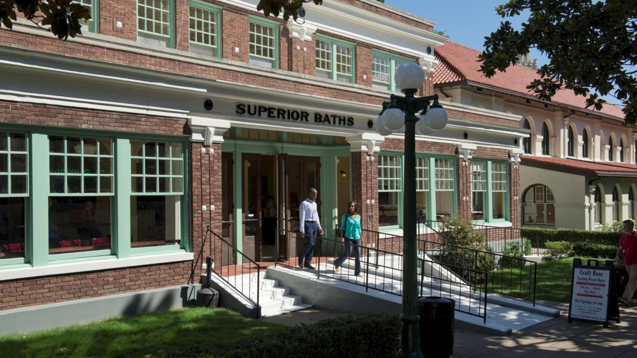 Superior Bathhouse Brewery in Hot Springs National Park