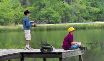 Fishing at White Oak Lake State Park