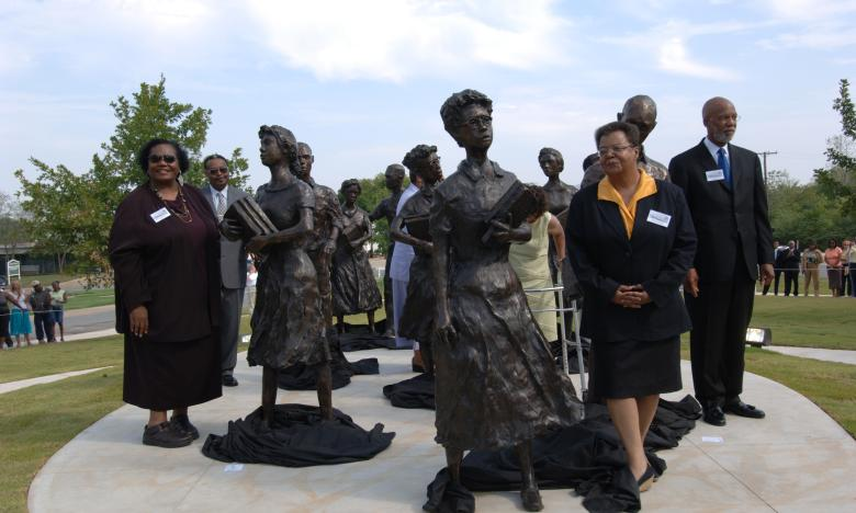 Little Rock Nine Statue Dedication at the Arkansas State Capitol