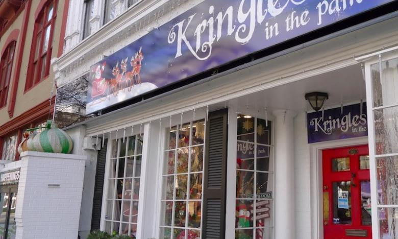 Kringles in the Park - year-round Christmas store in Arkansas