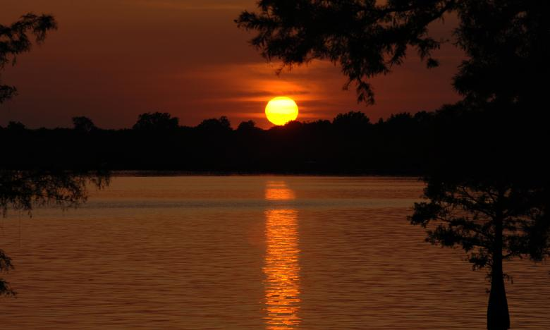 Sunset at Lake Chicot State Park