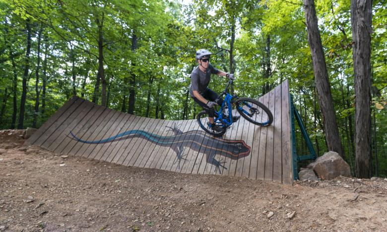 Mountain biking at Gregory Park in Fayetteville