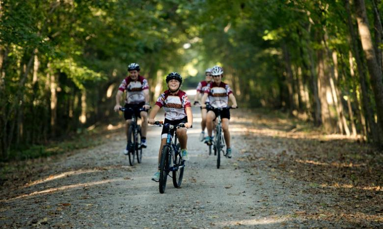 Biking at the Delta Heritage Trail State Park
