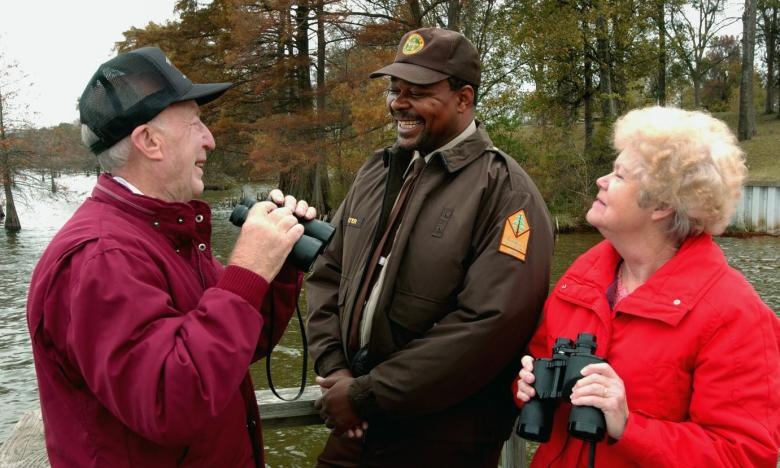 Fall is a great time for birding at Lake Chicot State Park