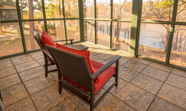 Gaze upon the natural beauty of Moro Bay State Park from the cabin's screened porch