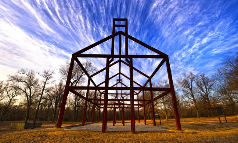 """Ghost structure"" at Davidsonville Historic State Park"