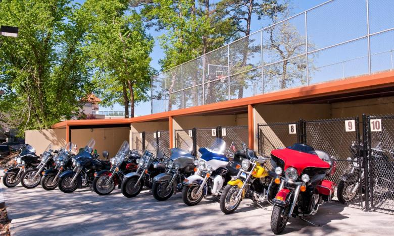 Motorcycle Parking at Best Western Inn of the Ozarks