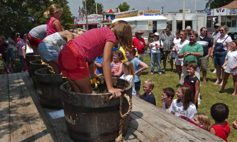 Grape stomp at the Altus Grape Festival