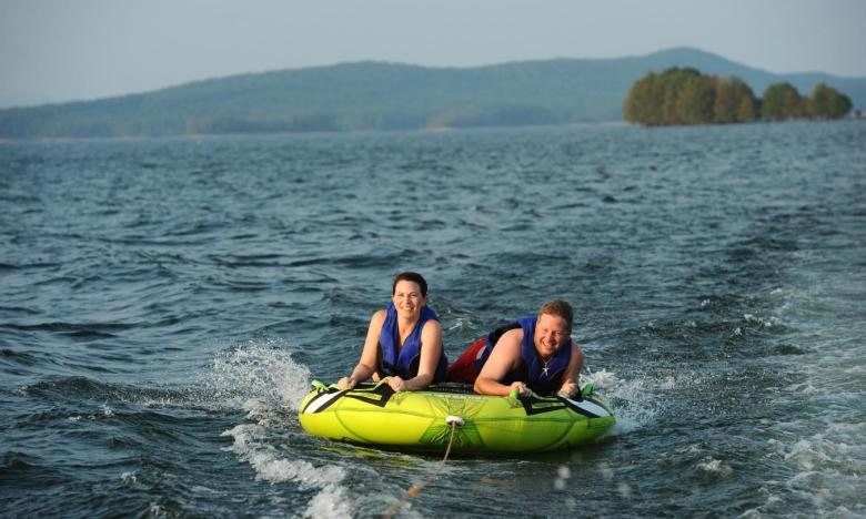 Tubing and other watersports available at Lake Ouachita State Park