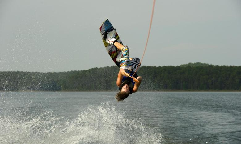 Wakeboarding and Boating at Lake Ouachita State Park