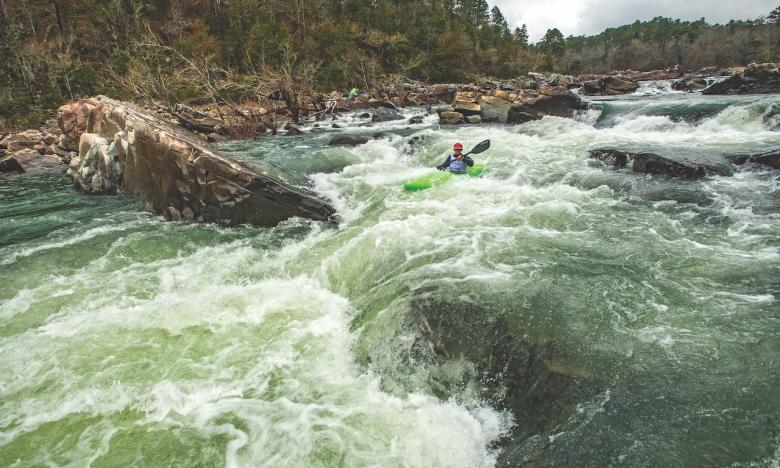 Kayaking on the Cossatot River