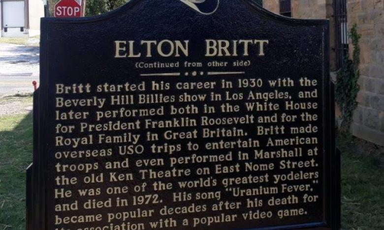 Elton Britt marker back side