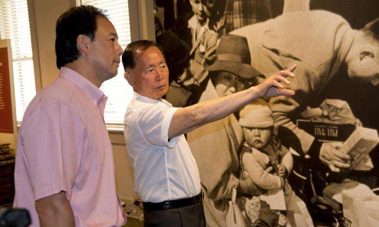 Actor George Takei at the opening of the WWII Japanese Internment Museum in McGehee