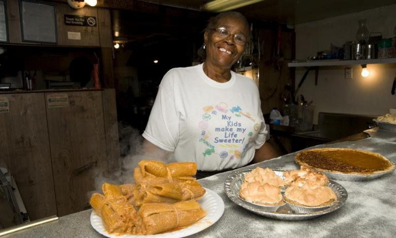 Ms. Rhoda and her award-winning tamales and homemade pies