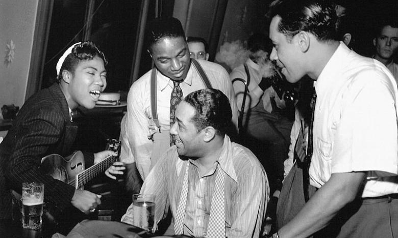 Sister Rosetta with legends Duke Ellington and Cab Calloway