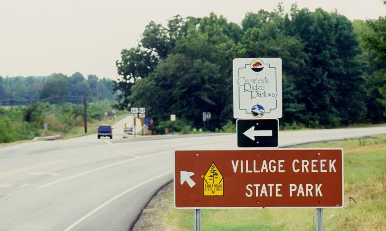 Village Creek State Park is located along Crowley's Ridge Parkway National Scenic Byway