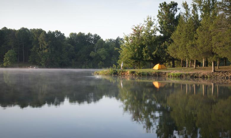 Camping is available along many Ozark Gateway waterways.