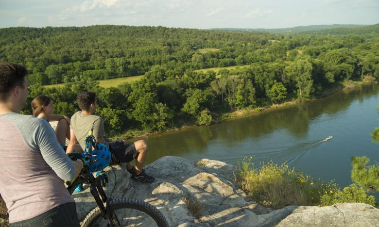 Biking with a view at City Rock Bluff
