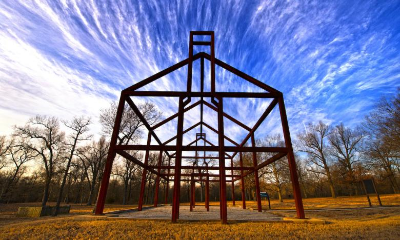 Tour the ghost structures at Davidsonville Historic State Park.