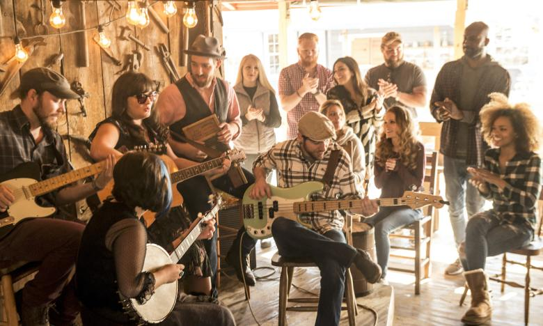 The Ozark Folk Center State Park in Mountain View features some of the best entertainment.