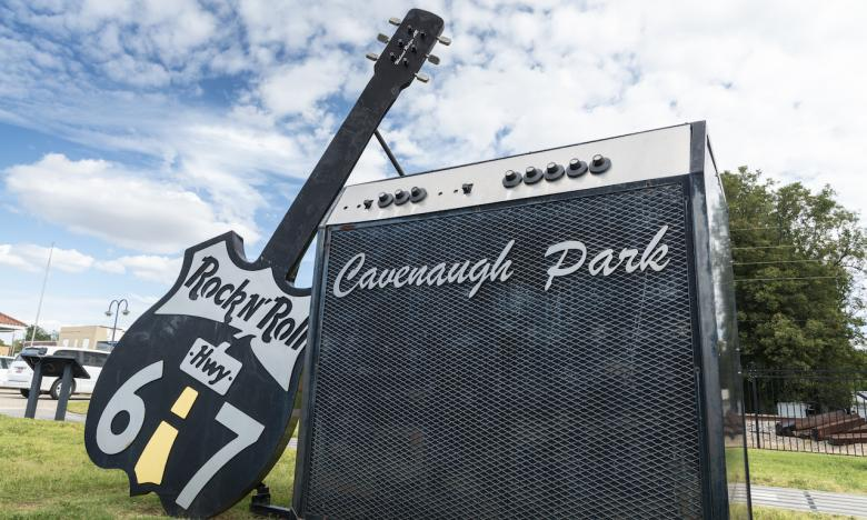 Cavenaugh Park celebrates the Rock n' Roll Highway 67.