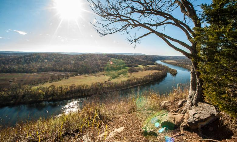 Picturesque vistas can be found at Painter's Bluff.