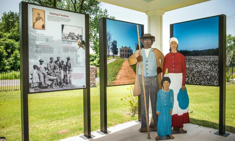 Freedom Park is dedicated to interpreting the African American experience during the Civil War
