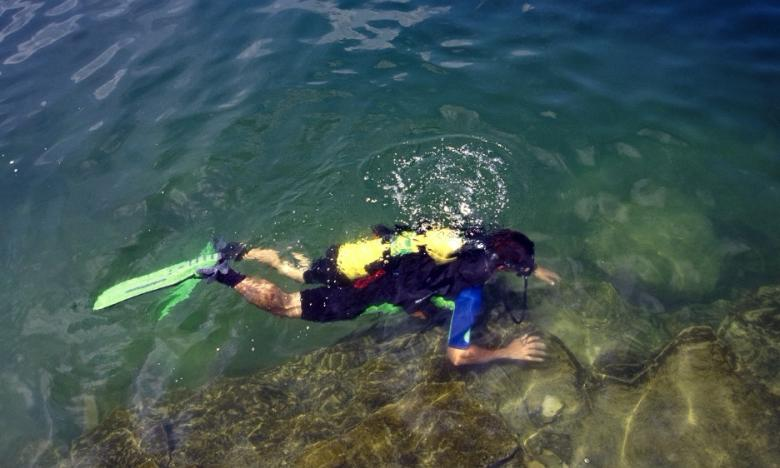 Scuba diving in Bull Shoals Lake