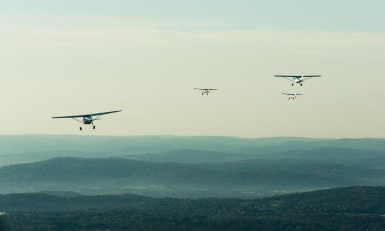 Planes take to the sky in Arkansas