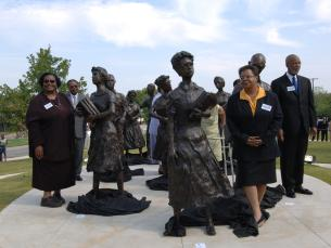 Little Rock Nine Statue at the Arkansas State Capitol