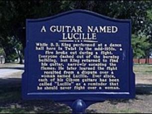 BB King's Lucille Marker