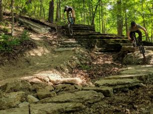 Mountain biking trails at the Great Passion Play in Eureka Springs