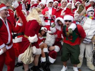 Night of a 1000 Santas in Eureka Springs