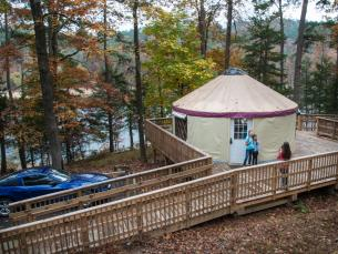 Rent a YURT at Arkansas State Parks