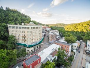 View of downtown Eureka Springs