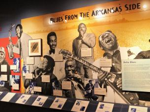 Blues from the Arkansas Side panel (Delta Sounds Exhibit) at Delta Cultural Center
