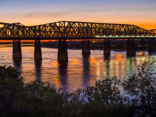 The Big River Crossing spans the legendary Mississippi River