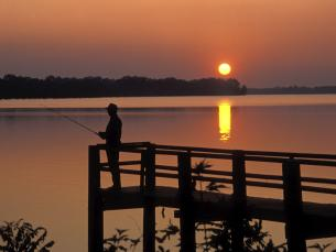 Lake Chicot is great for fishing and birdwatching