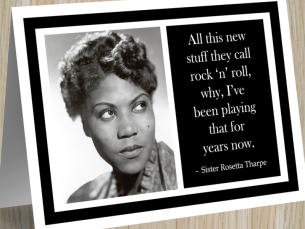 "Sister Rosetta is often called ""the Godmother of Rock & Roll."""